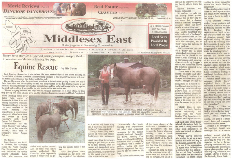 Equine Rescue article